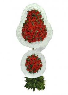 Kırmızı Gerbera Çift Katlı Sepet